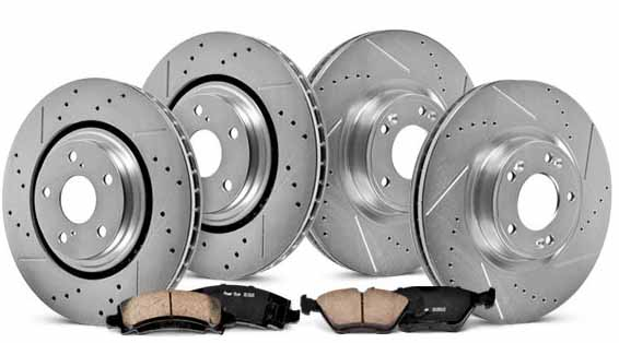 picture of car brake rotor & pads